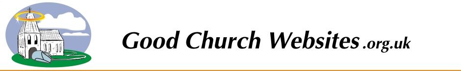 Good Church Websites - Planning And Management