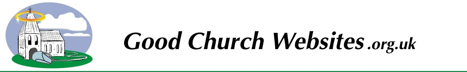 Good Church Websites - Site Content
